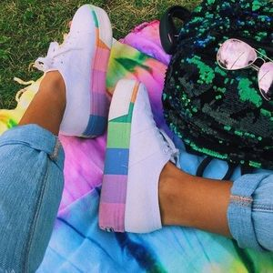 d01e1f2bb020 Superga Shoes - White Rainbow Platform Superga Sneakers